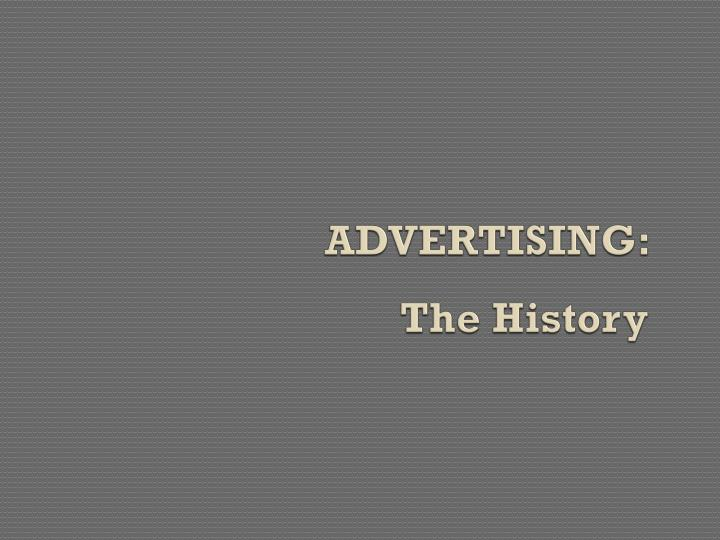 advertising the history n.