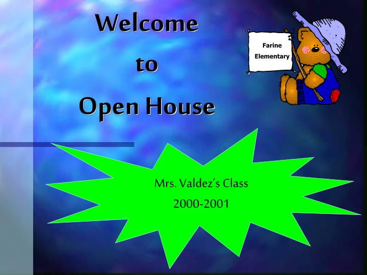 welcome to open house n.