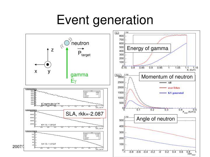 Event generation