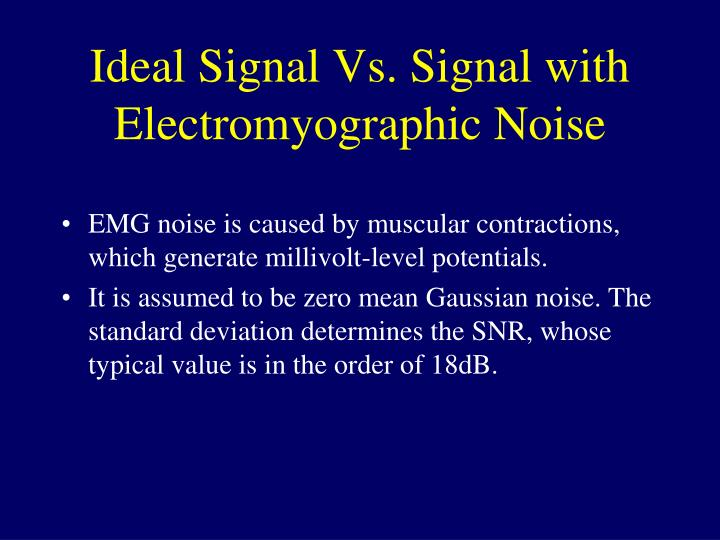 Ideal Signal Vs. Signal with Electromyographic Noise