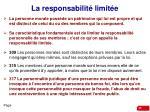 la responsabilit limit e