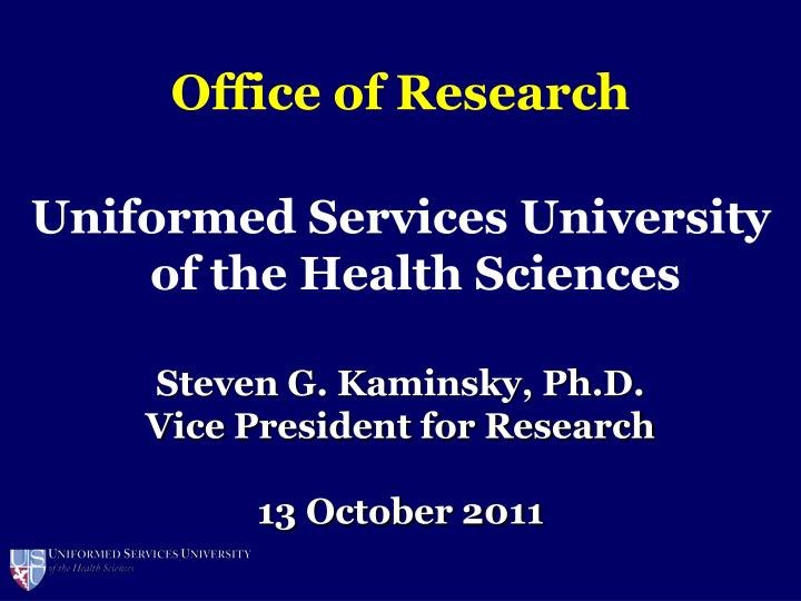 office of research n.