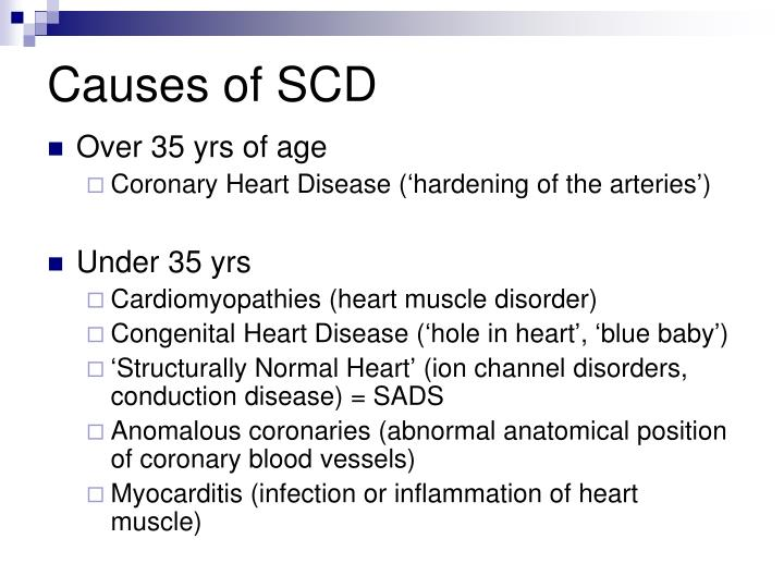Causes of SCD