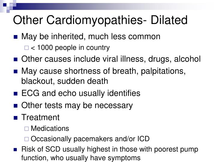 Other Cardiomyopathies- Dilated