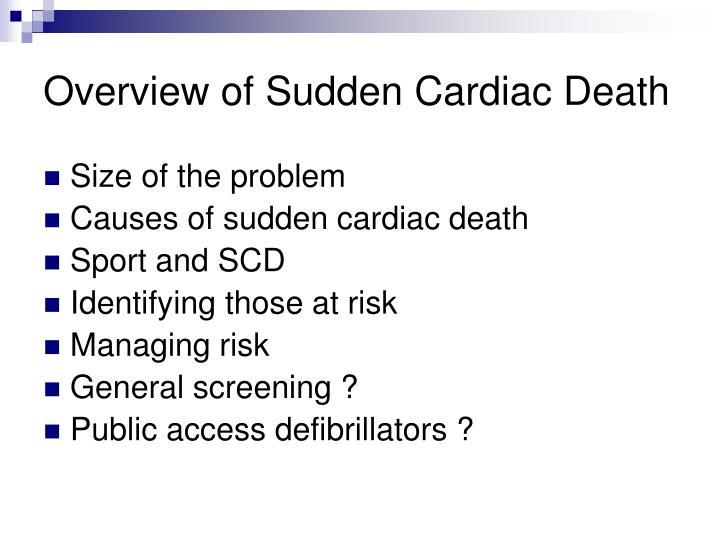 Overview of sudden cardiac death