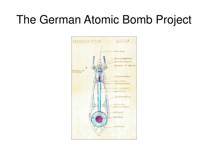 the german atomic bomb project