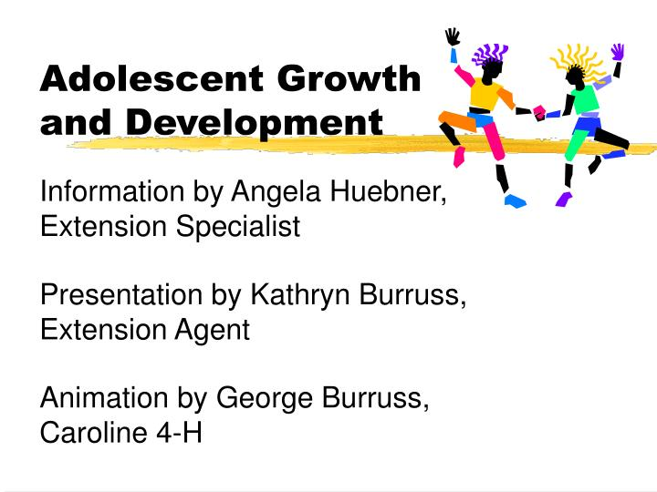 adolescent growth and development n.