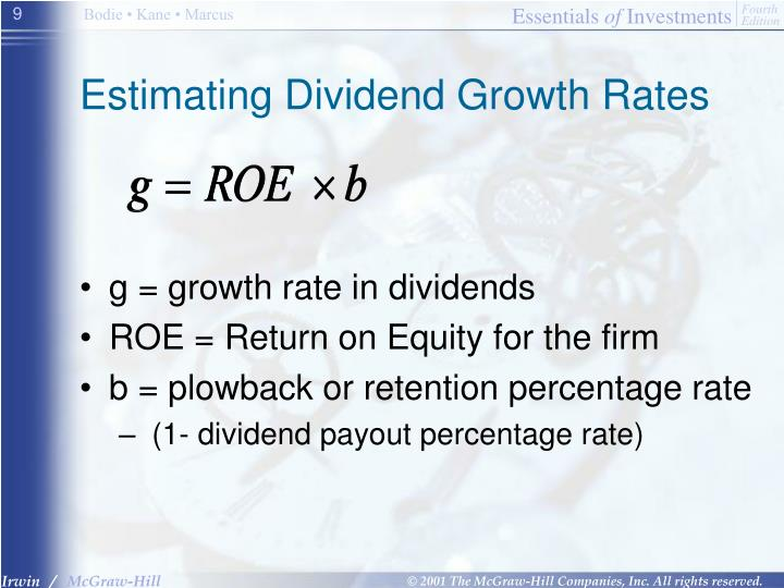 Estimating Dividend Growth Rates