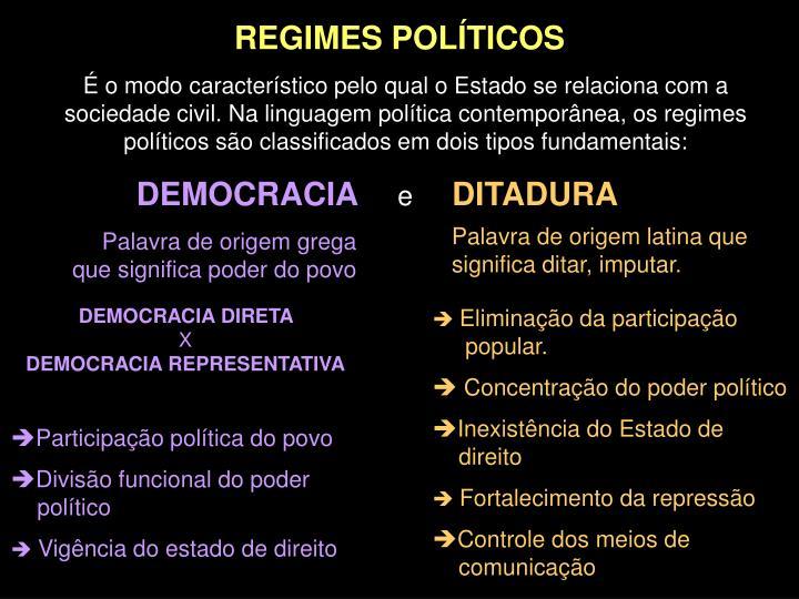 REGIMES POLÍTICOS