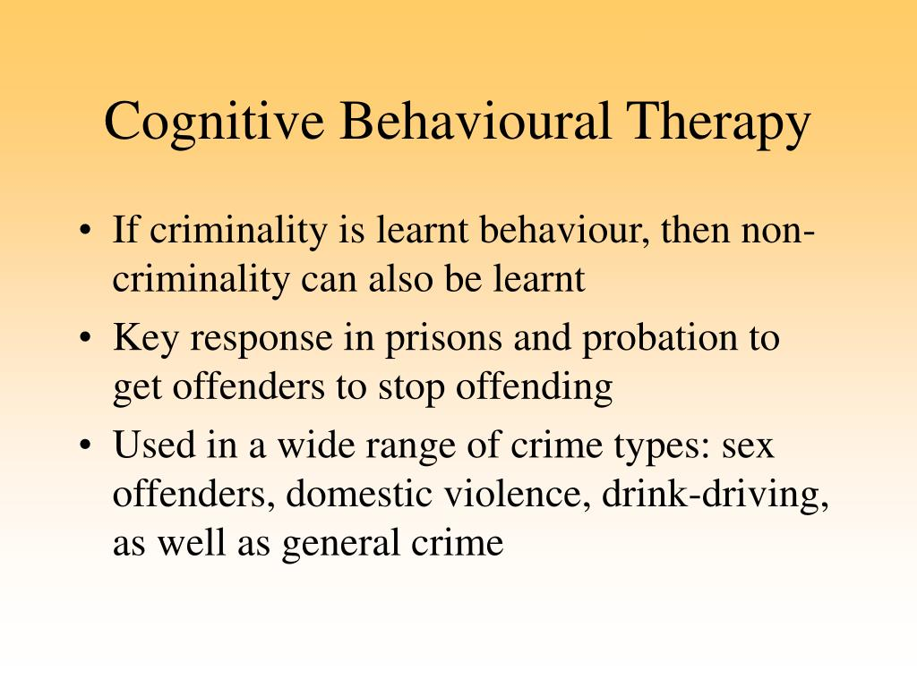 cognitive behavioural theory sex offenders in Carrollton