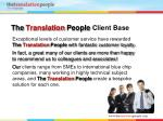 the translation people client base