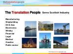 the translation people serve scottish industry