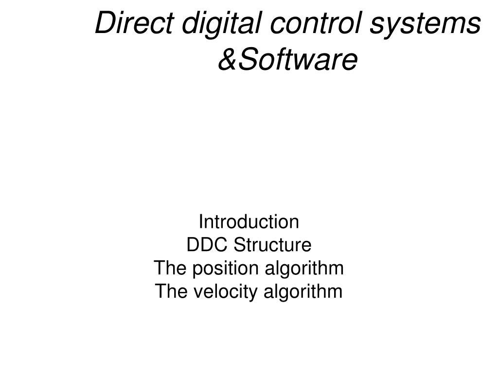 Direct Digital Control Ppt