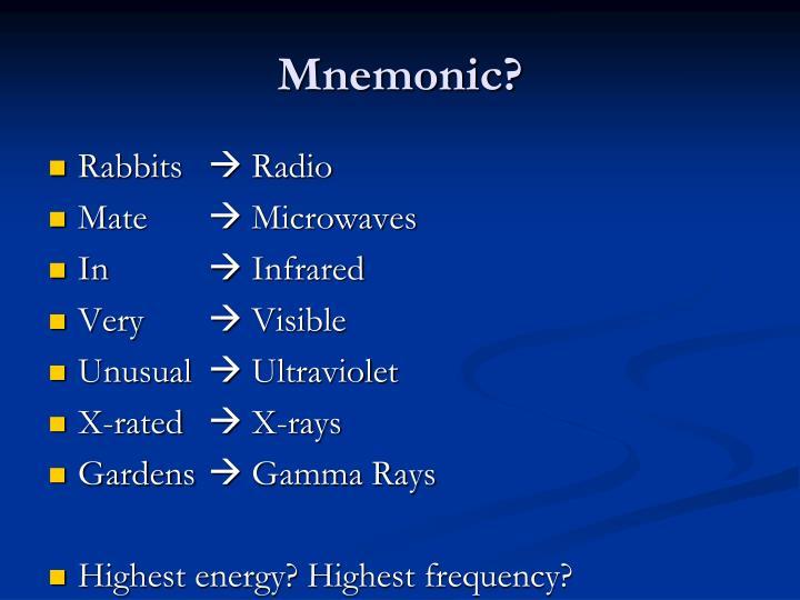Mnemonic?