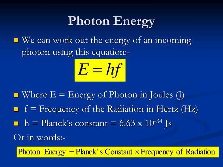 Photon Energy