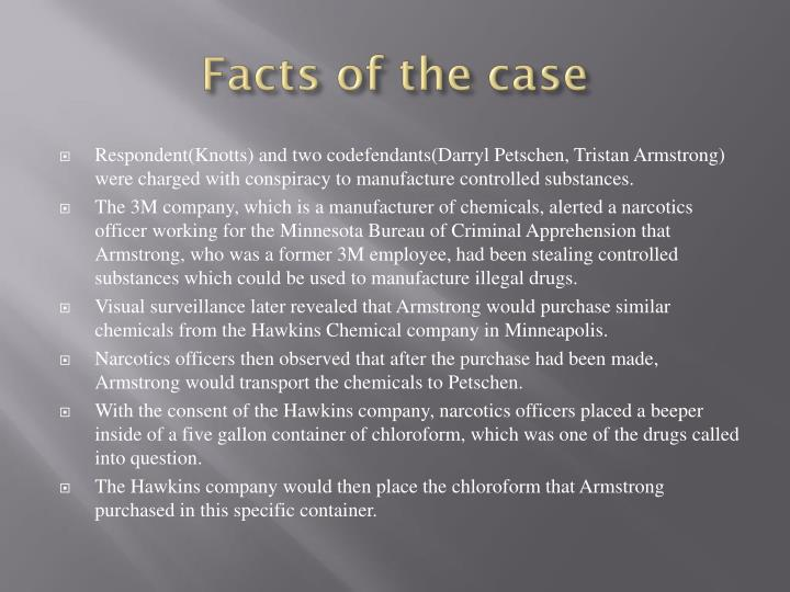 Facts of the case