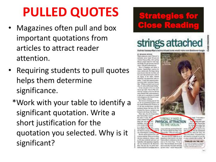 PULLED QUOTES