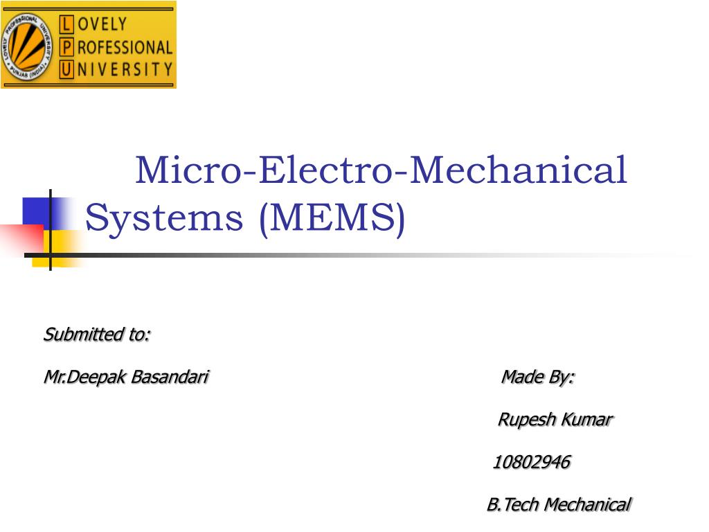 Micro Electro Mechanical Systems Mems N