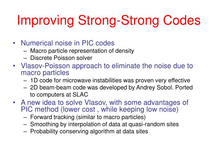 Improving Strong-Strong Codes