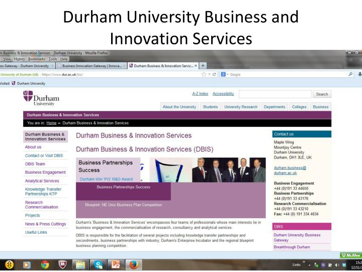 Durham University Business and Innovation Services