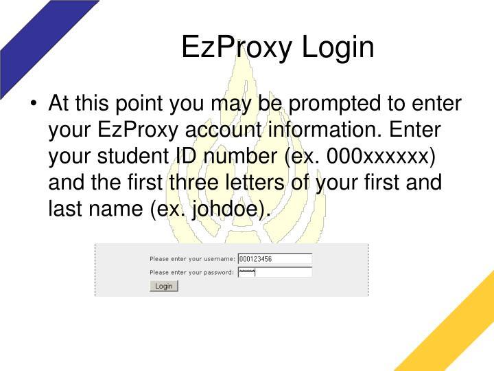EzProxy Login