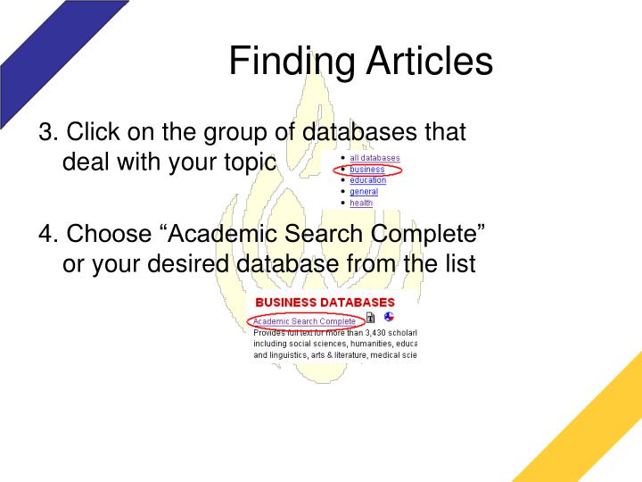 Finding articles