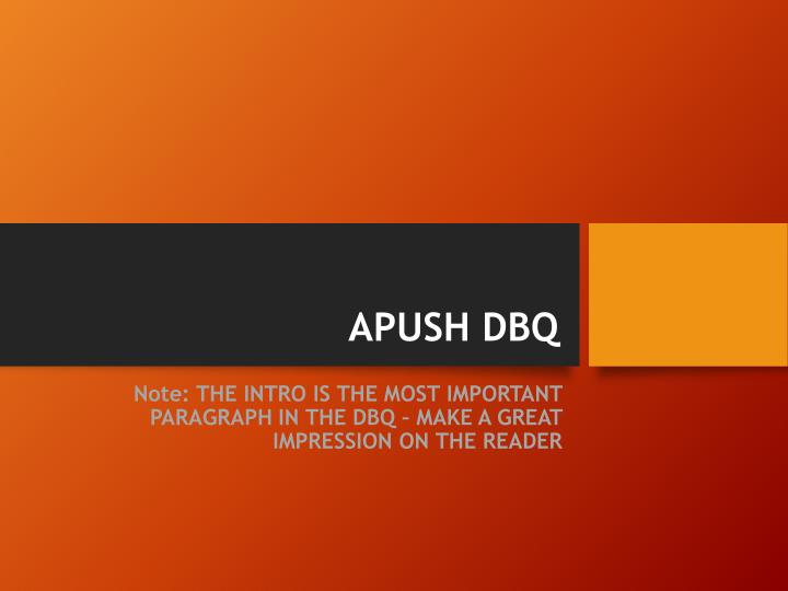 apush chapter 10 dbq Top apush flashcards part 2 consists of two essay sections, one of which is the dbq what is the dbq apush chapter 10.