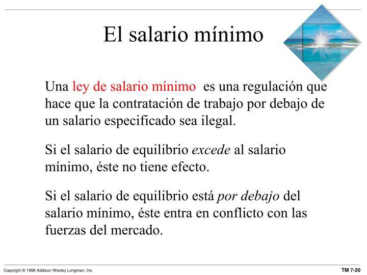 El salario mínimo