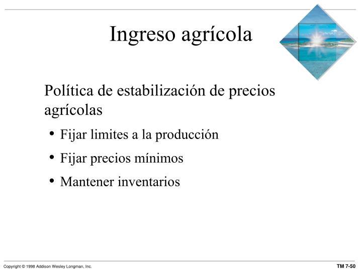 Ingreso agrícola