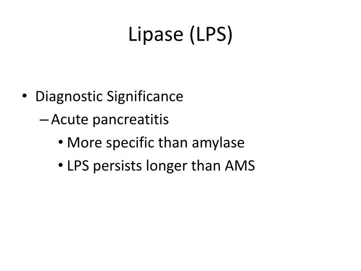 Lipase (LPS)