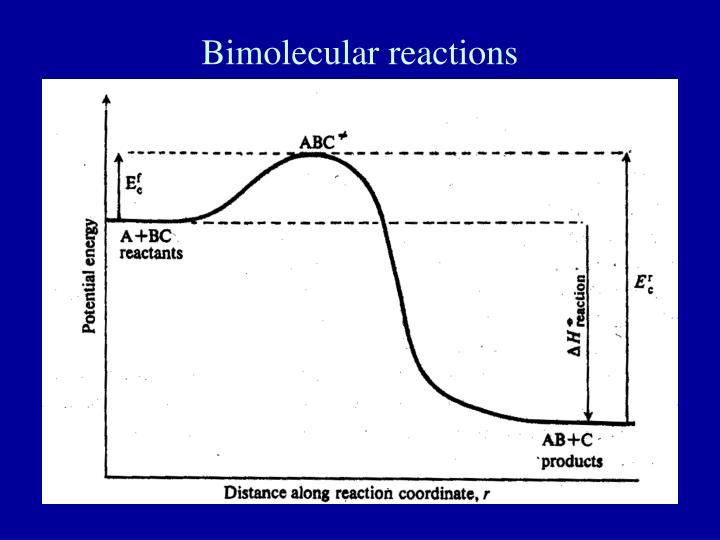 Bimolecular reactions