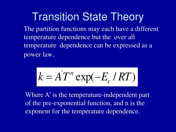 Transition State Theory