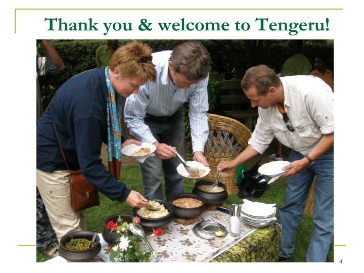 Thank you & welcome to Tengeru!