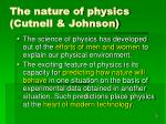 the nature of physics cutnell johnson