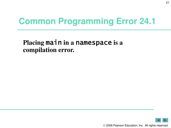 Common Programming Error 24.1