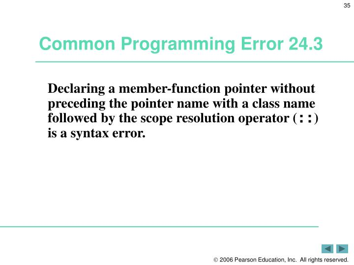 Common Programming Error 24.3