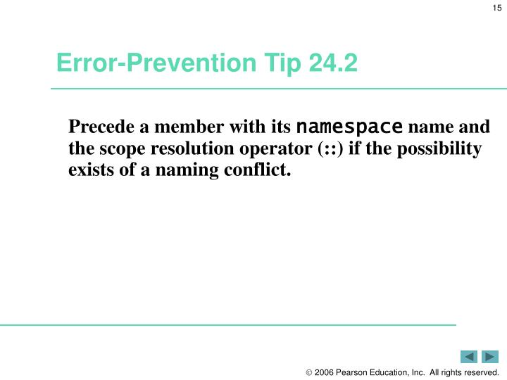 Error-Prevention Tip 24.2