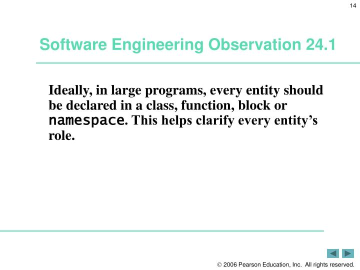Software Engineering Observation 24.1