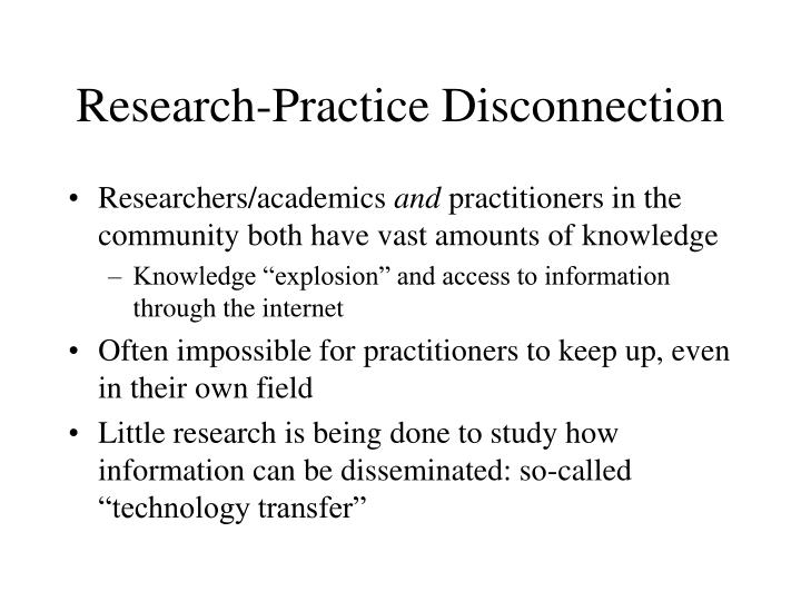 Research-Practice Disconnection
