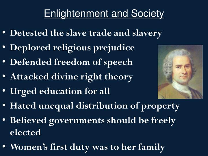 Enlightenment and Society