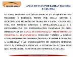 an lise das portarias 186 2014 e 188 2014