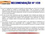 recomenda o n 1591