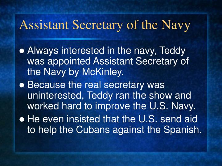 Assistant Secretary of the Navy