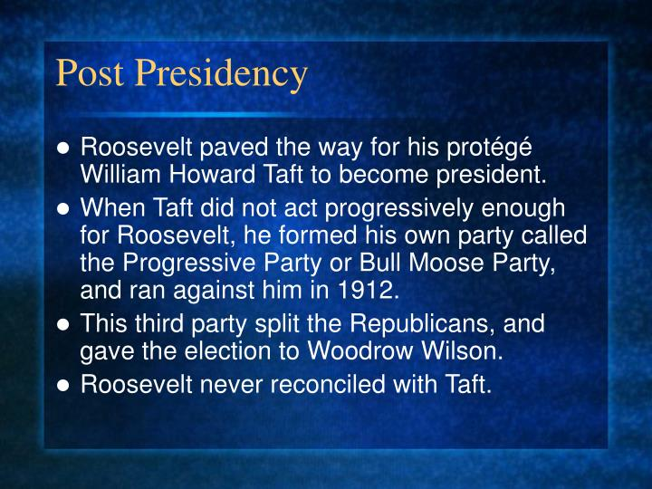 Post Presidency