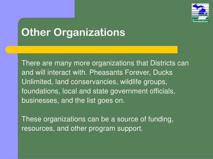 Other Organizations
