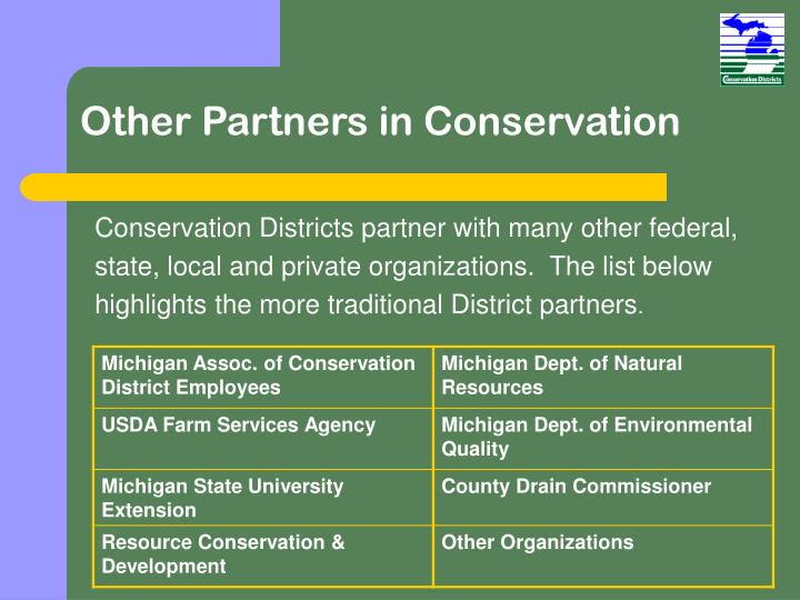 Other Partners in Conservation