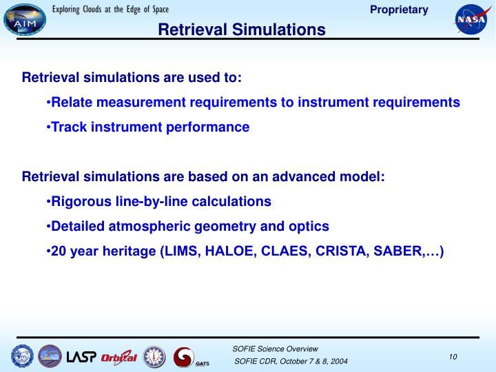 Retrieval Simulations