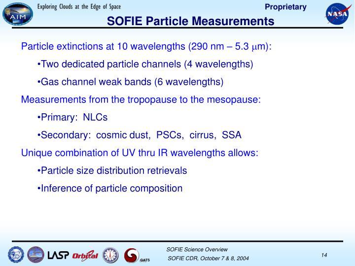 SOFIE Particle Measurements