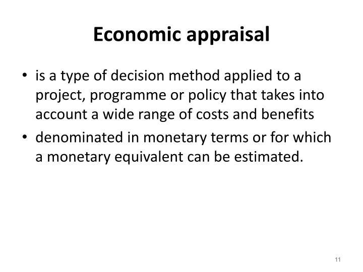 Economic appraisal
