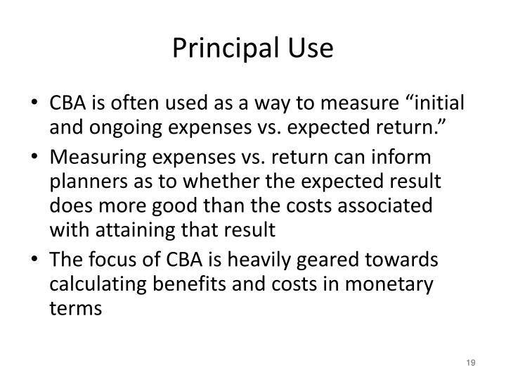 Principal Use